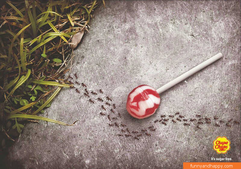 creative ad for sugar free