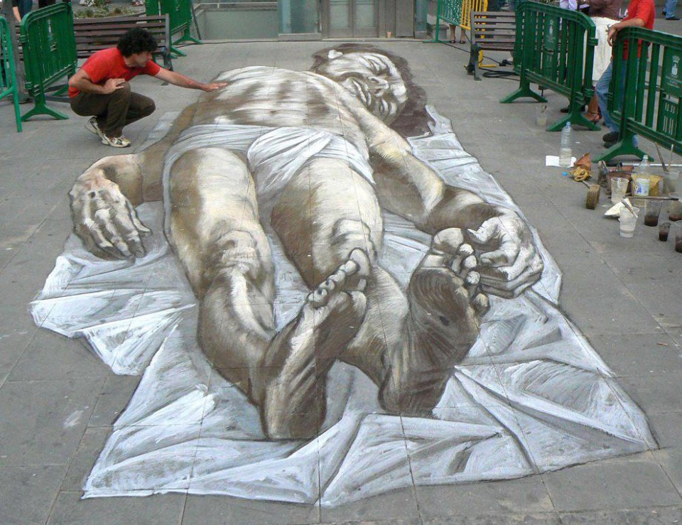 amazing man street art