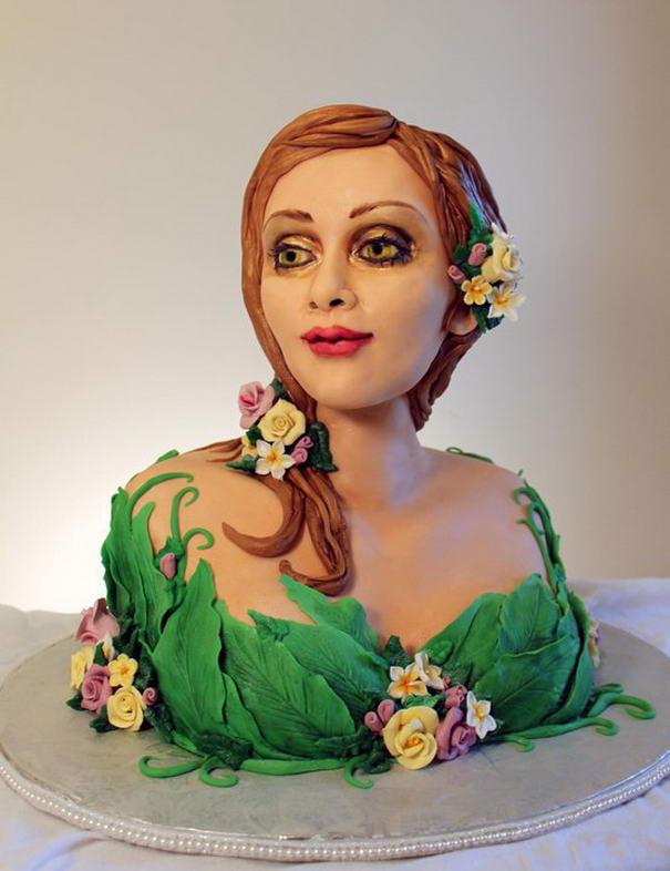 amazing woman cake art