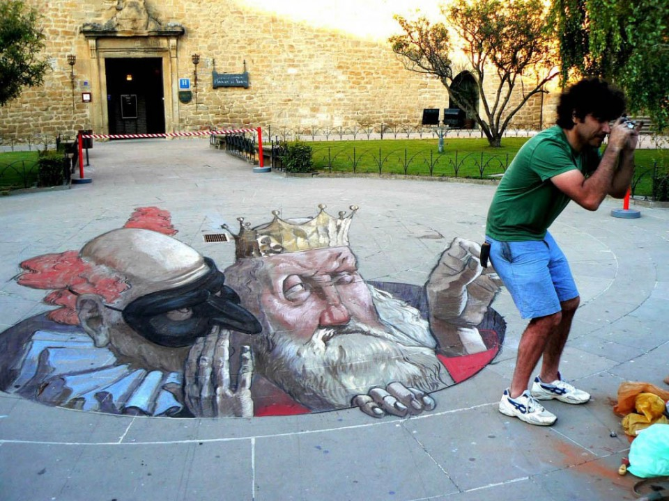 street art optical illusion