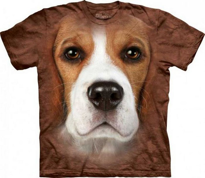 3d dog face tshirts -  1