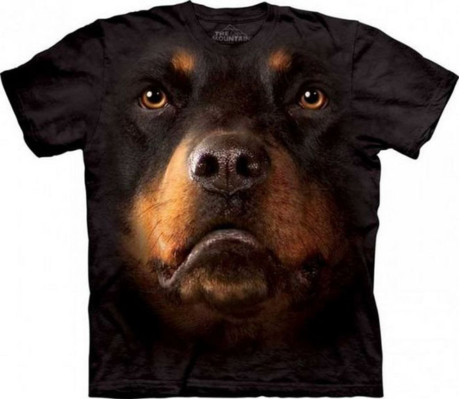 2 3d dog face tshirts
