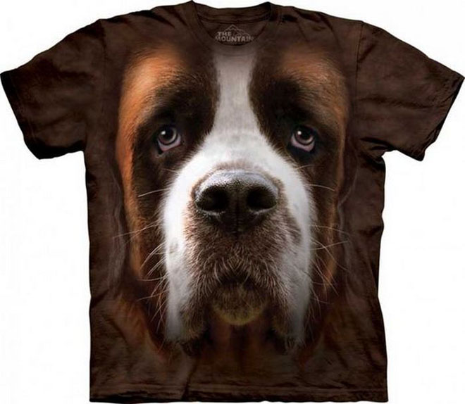 4 3d dog face tshirts