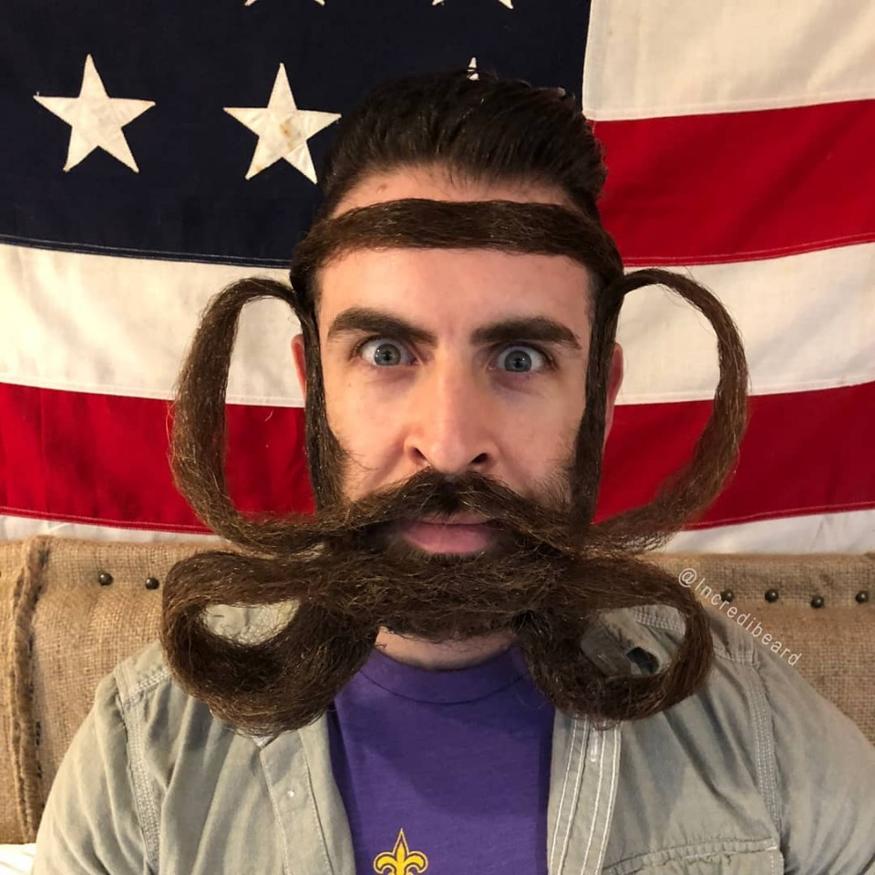 funny beard moustache strangle by incredibeard