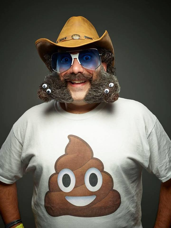 funny beard moustache poop