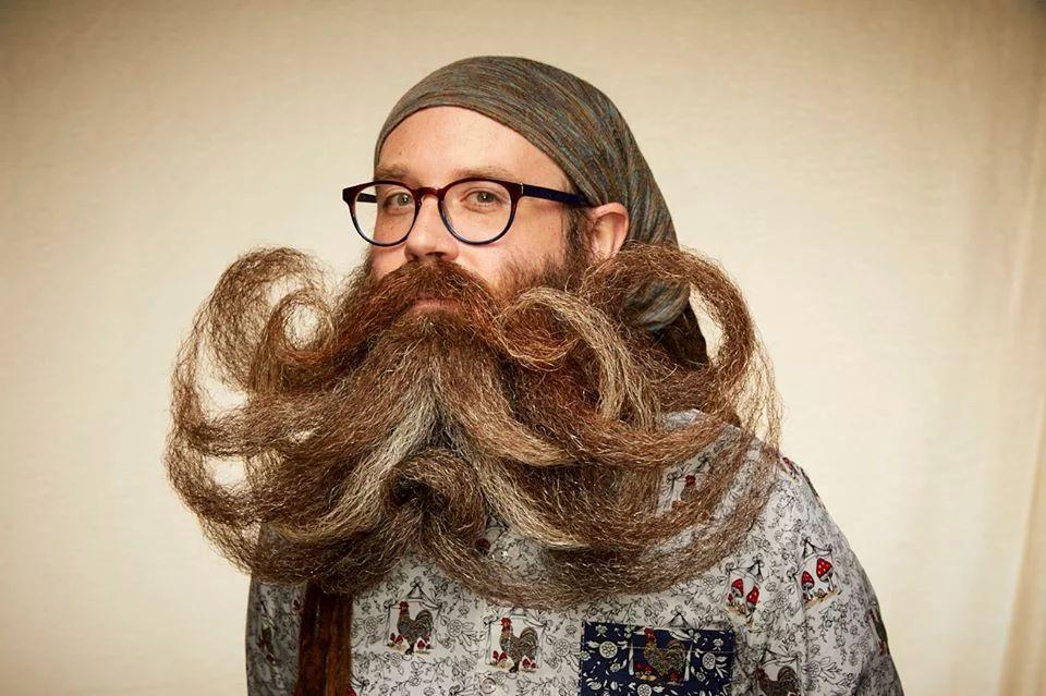 funny beard moustache curls