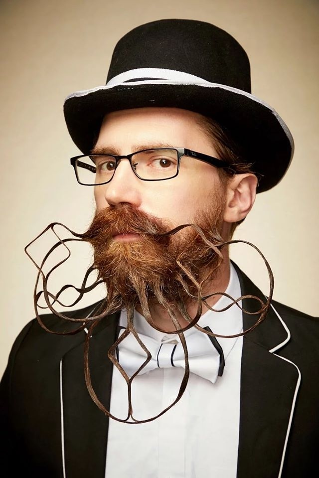 funny beard moustache design