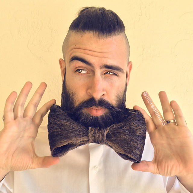 funny beard moustache bowtie by incredibeard