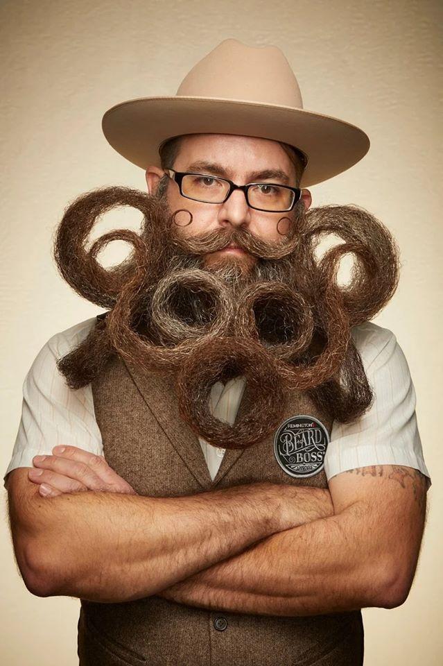 funny beard moustache spiral