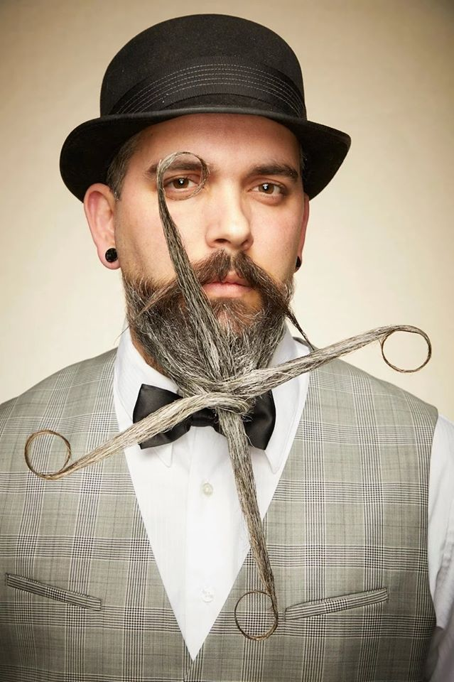 funny beard moustache knot