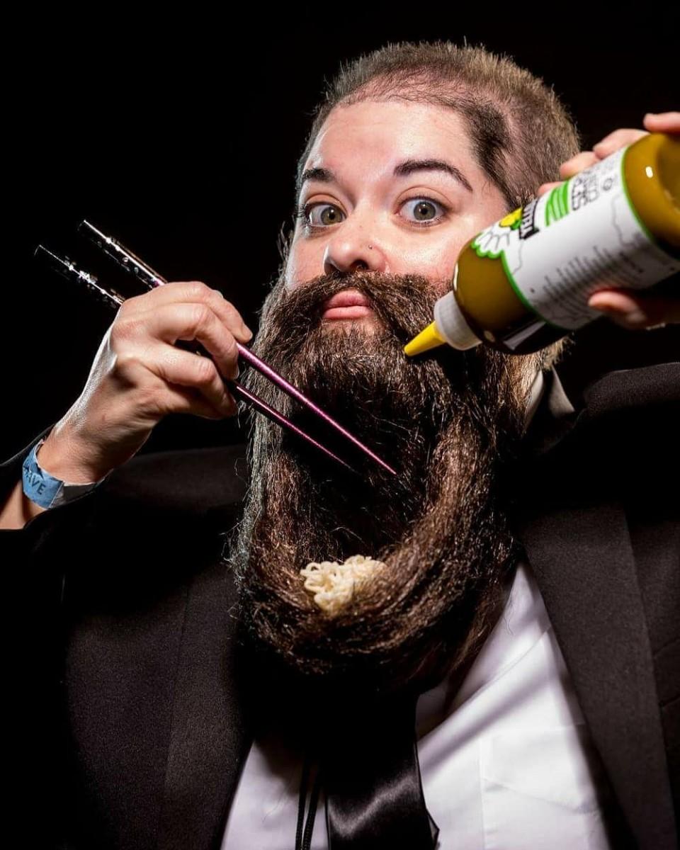 funny beard moustache food by incredibeard