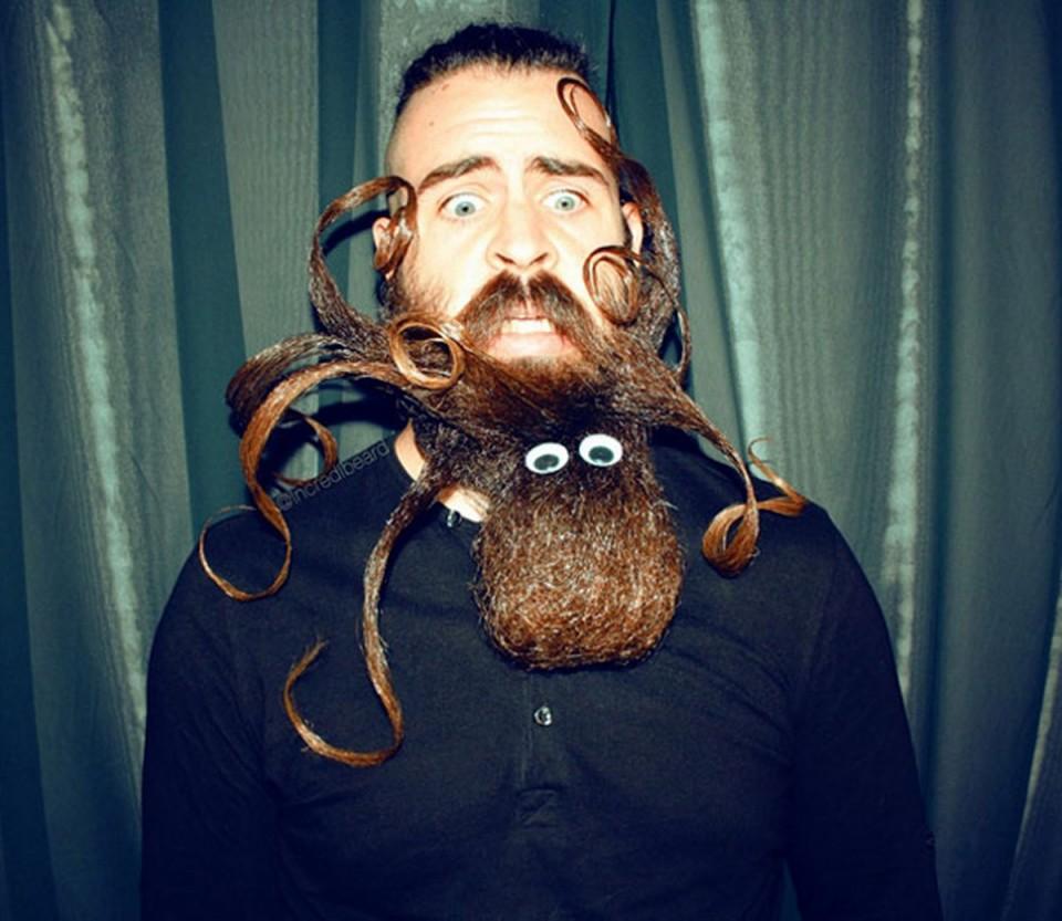 funny beard moustache octopus by incredibeard