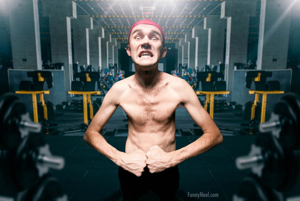 funny gym body builder
