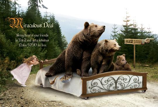 three bears funny ads