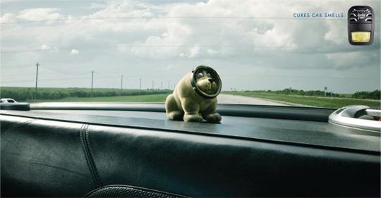cures car smells funny ads