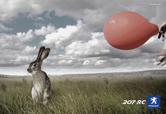 peugeot rabbit funny ads