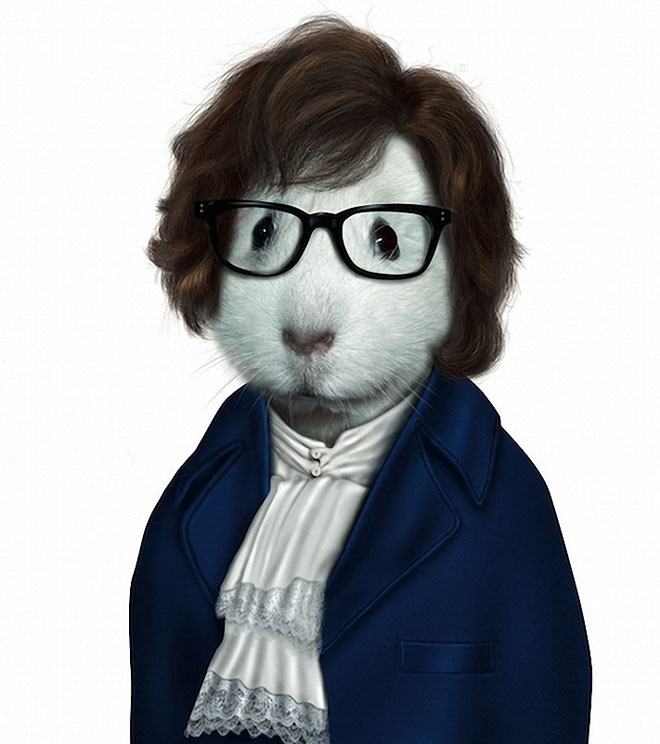 Austin Powers - Dog Disguisefamous person faces celebrity animal funny