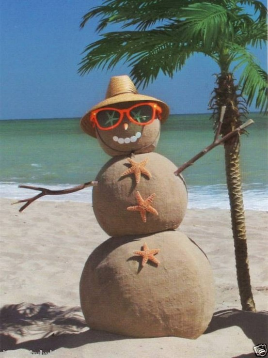 Beach Snowman Full Image