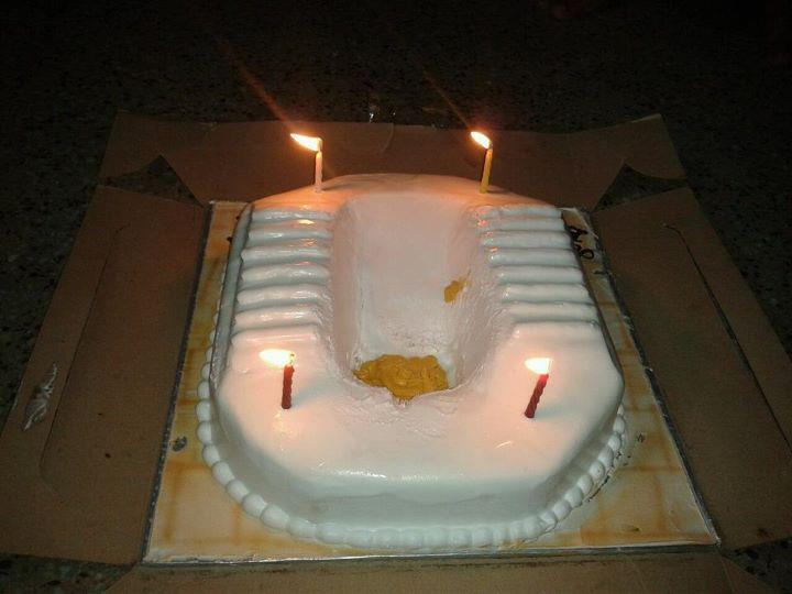 funny cake  for your birthday