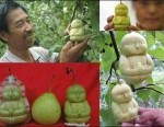 DIY Pear shaped as Buddha
