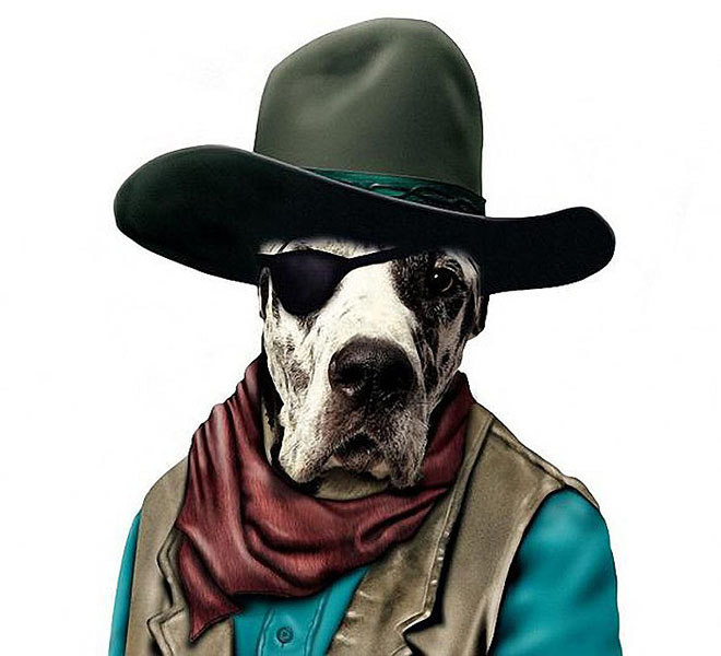 JOHN WAYNE - Dog Disguisefamous person faces celebrity animal funny