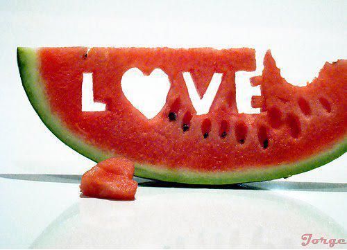 love  melon carving