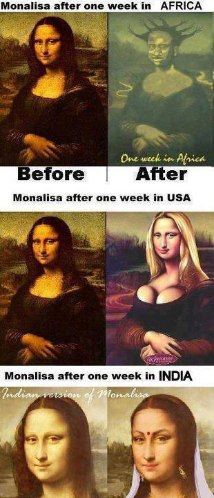 Monalisa After one week in your country