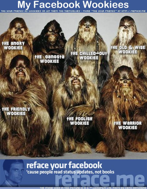 My facebook wookiees