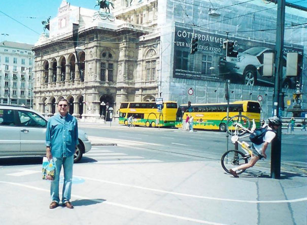 perfectly timed photograph man on cycle