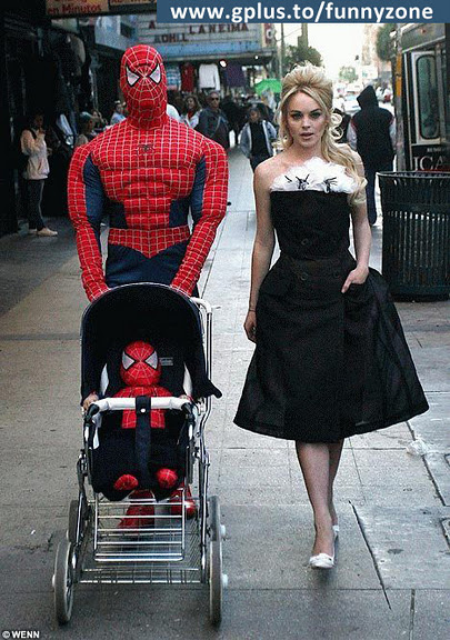 Spider man is blessed with baby boy
