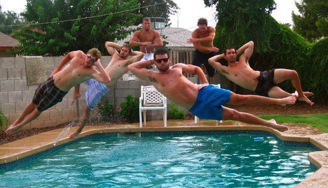 swimming pool jumb