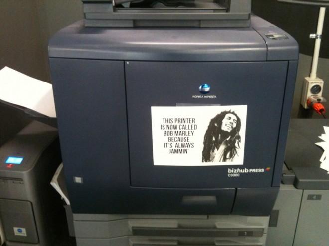 my printer is bob marley