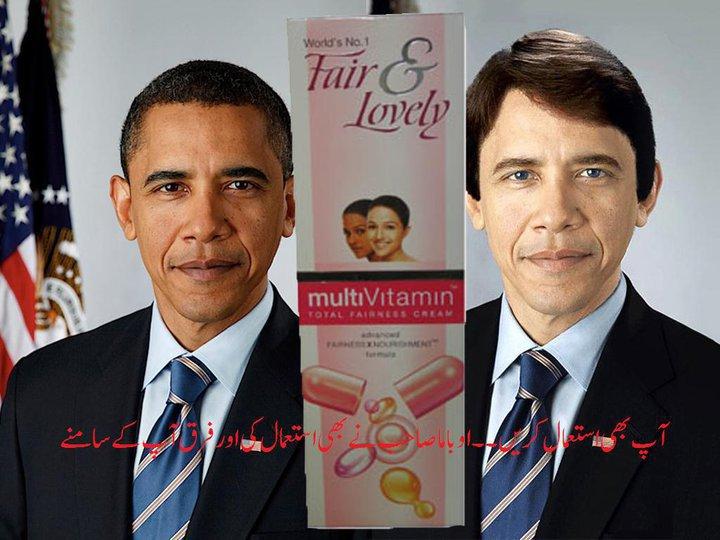 white obamanew fair & lovely ad