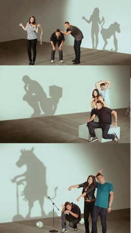funny people shadow art