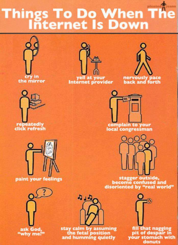 things to do when internet is down