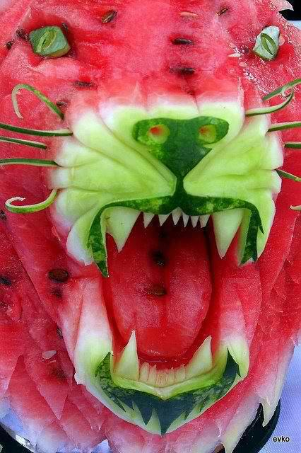 amazing pictures watermelon  carving