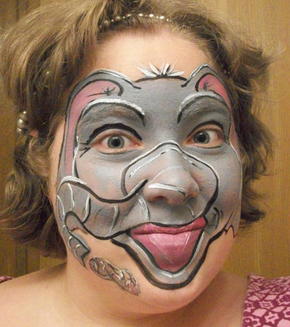 1 funny face painting