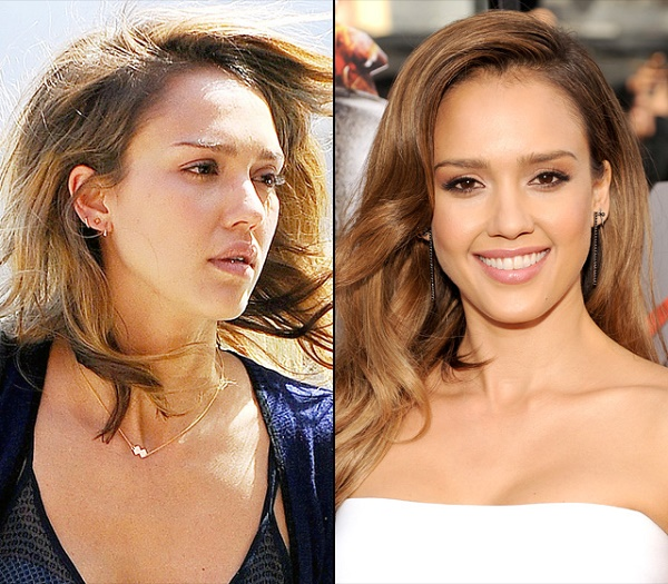 jessica alba celebrities without makeup