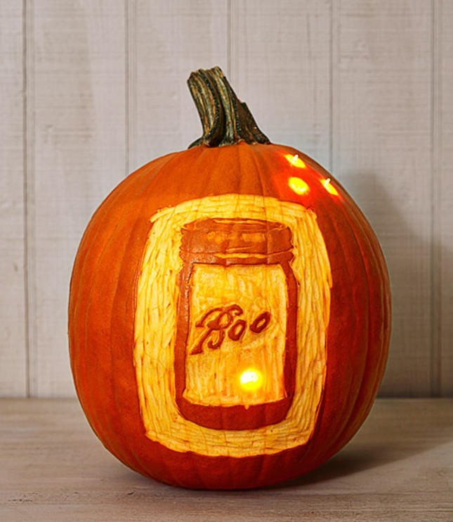 mason jar pumpkin carving idea