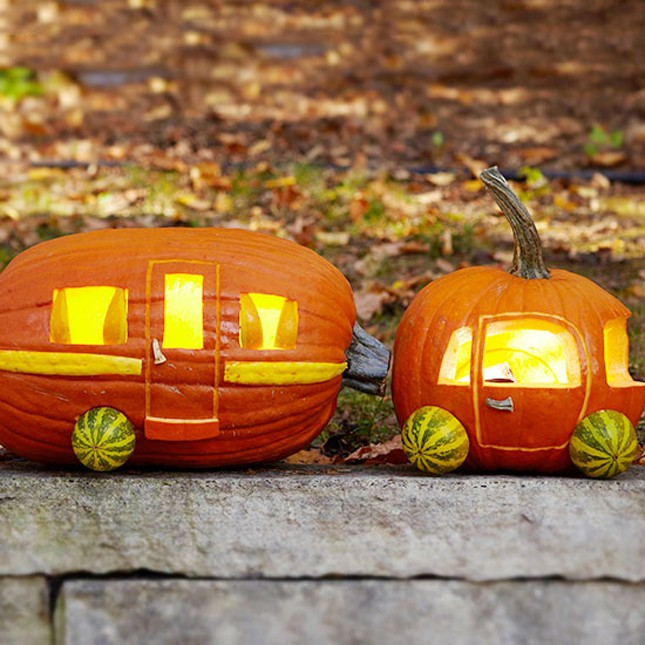 caravan pumpkin carving idea