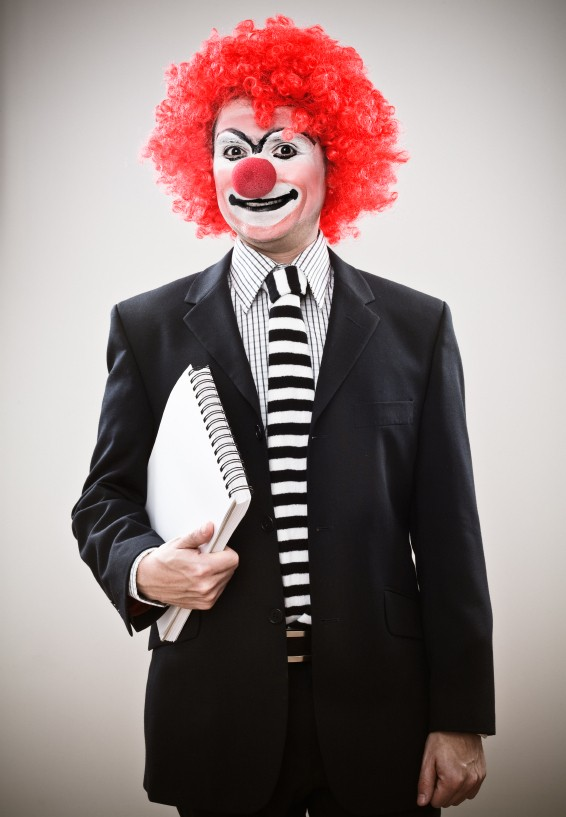 funny business clown picture