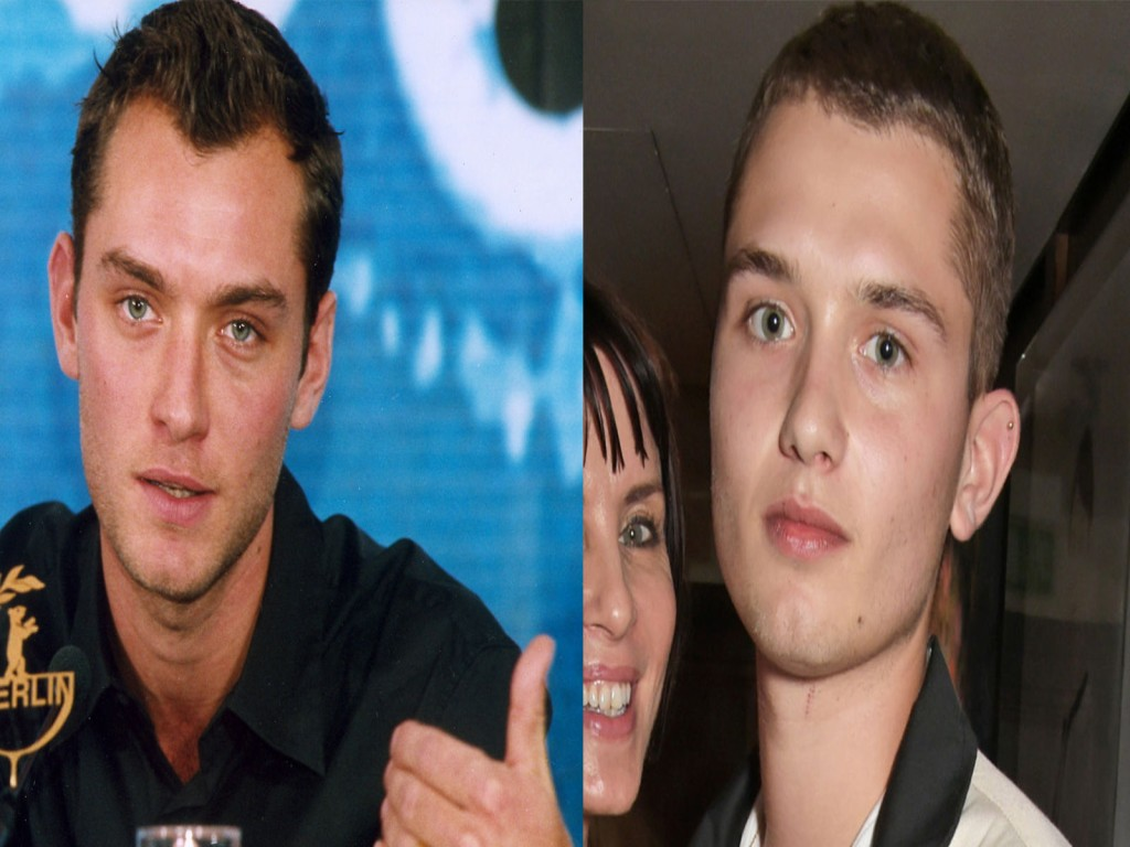 jude law kid facial similar features