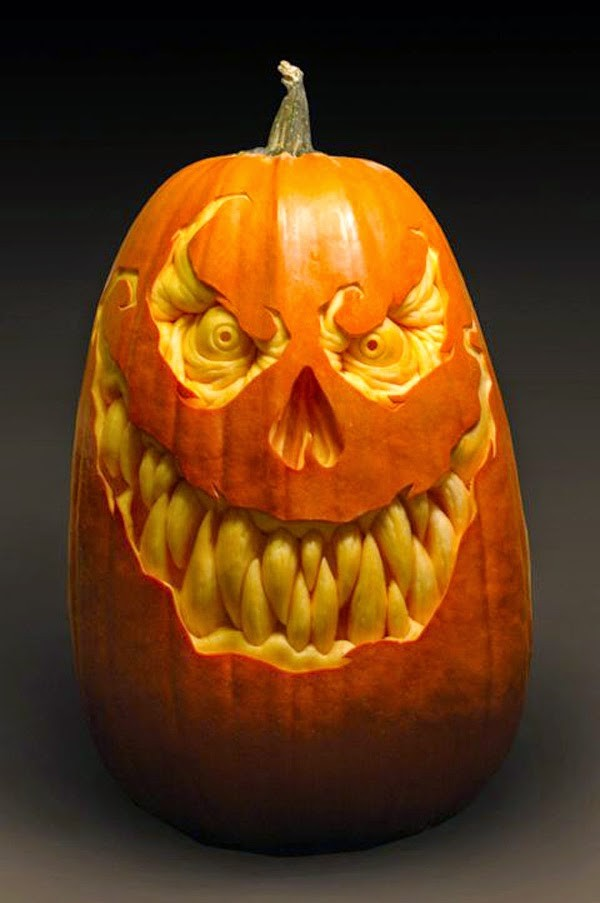 evil pumpkin carving idea