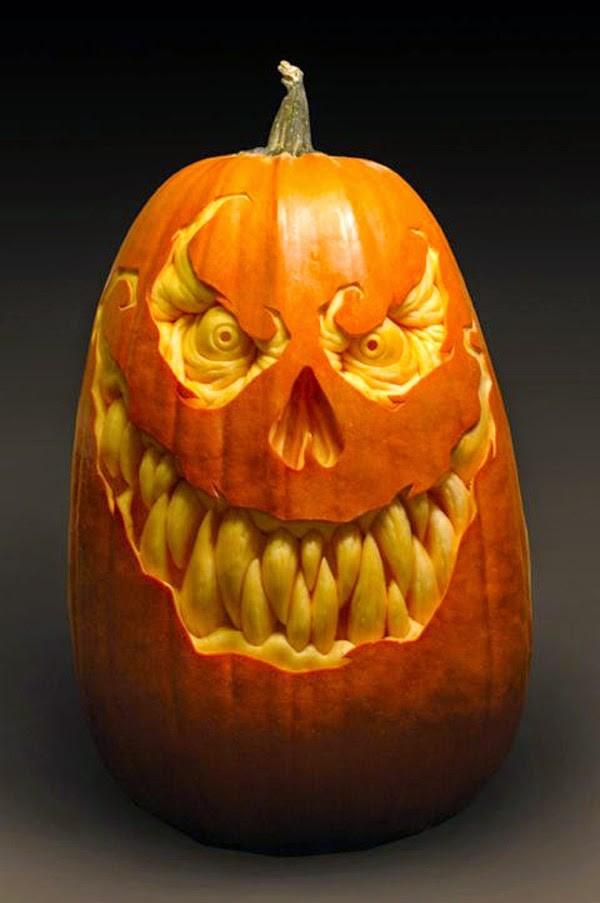 evil pumpkin carving idea