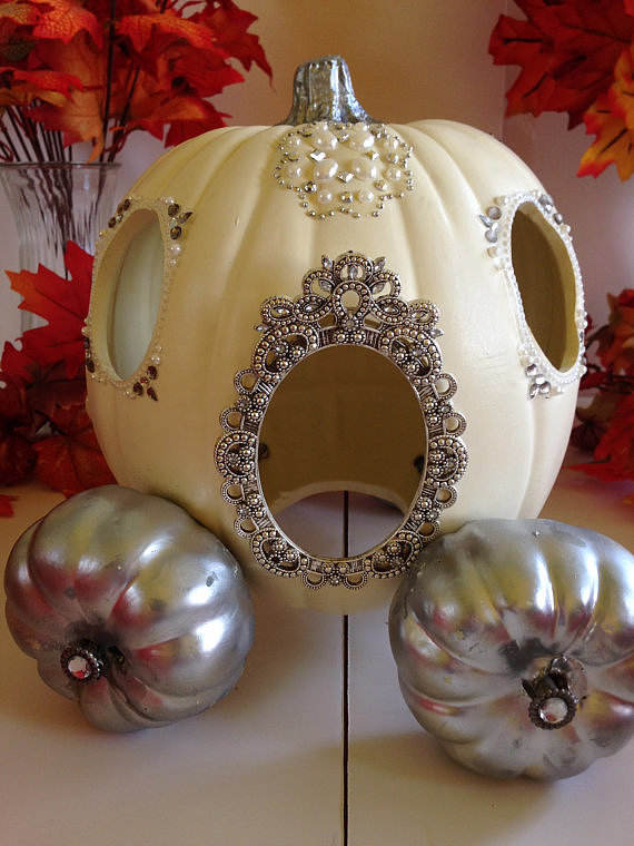 fairy tale carriage pumpkin carving idea