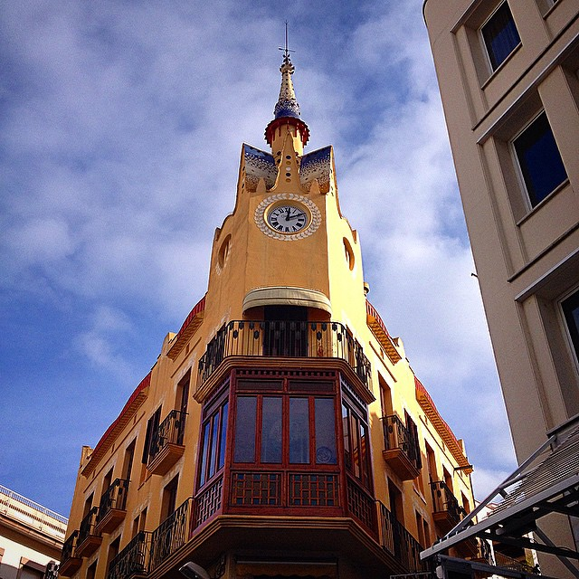 clock tower sitges barcelona architecture photography