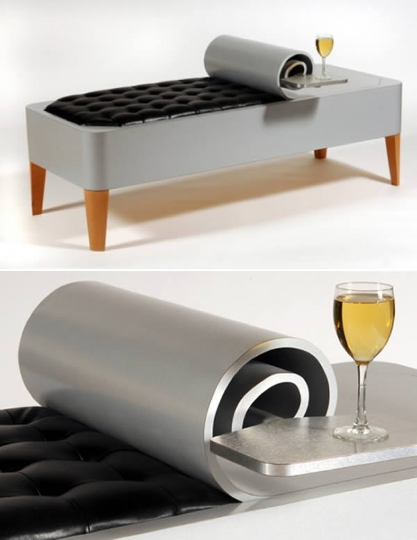canned bench optical illusion furniture