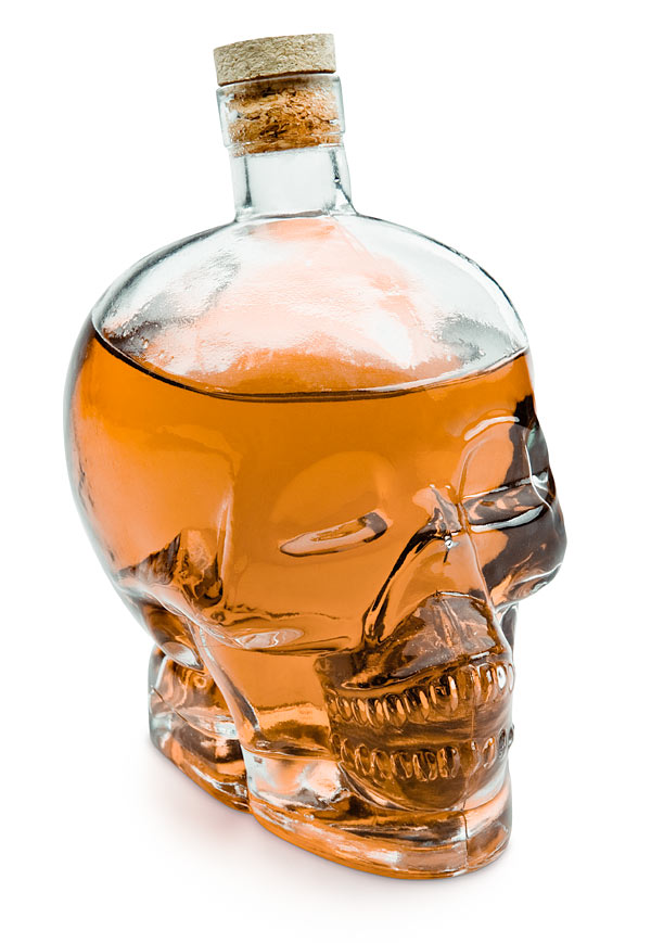 creative glass skull art idea