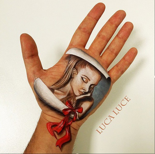 luca luce creative hand painting