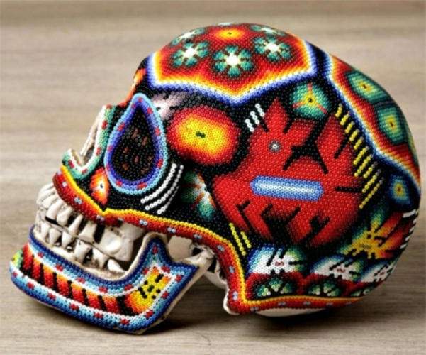 creative skull art idea